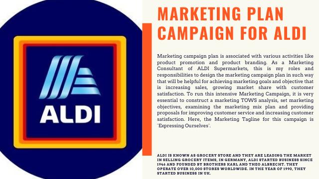 Marketing Campaign Plan for ALDI