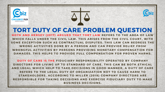 Tort Duty of Care problem question